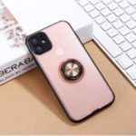 Shiny Series PC+TPU Hybrid Rotating Kickstand Phone Cover for Apple iPhone 11 Pro 5.8 inch – Pink