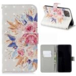 Light Spot Decor Pattern Printing Leather Wallet Phone Case for Apple iPhone 11 6.1 inch – Colorful Flowers