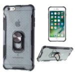 Stylish Clear PC + TPU Hybrid Case for iPhone 6 Plus/6s Plus 5.5-inch – Black