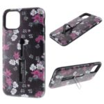 Embossment Pattern Printing TPU + PC Hybrid Case with Kickstand for iPhone 11 Pro Max 6.5 inch (2019) – Pattern A