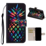 Pattern Printing Leather Wallet Case for iPhone 11 6.1 inch – Colorized Pineapple