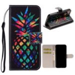 Printing Leather Casing for iPhone 11 Pro Max 6.5 inch – Colorized Pineapple