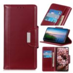 Wallet Stand PU Leather Phone Case for Samsung Galaxy M30s – Red