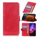Wallet Stand Leather Cell Phone Mbile Case for Samsung Galaxy A90 5G – Red