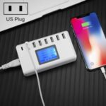 i10 40W 8-Port Multi-function Charging Station with LED Display – US Plug