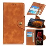 PU Leather Wallet Stylish Stand Mobile Case for Motorola Moto E6 Plus – Brown