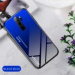 Gradient Color Tempered Glass + PC + TPU Hybrid Case for Xiaomi Redmi Note 8 Pro – Blue