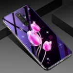 Electroplated TPU Soft Frame + Blue-ray Tempered Glass + PC Back Plate Hybrid Case for Xiaomi Redmi Note 8 Pro – Tulip