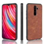 PU Leather+TPU Cell Cover for Xiaomi Redmi Note 8 Pro – Brown