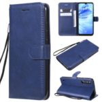 PU Leather + TPU Wallet Stand Phone Shell for Xiaomi Mi CC9e / Mi A3 – Blue