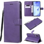 PU Leather + TPU Wallet Stand Phone Shell for Xiaomi Mi CC9 / Mi A3 Pro / Mi CC9 Meitu Edition / Mi 9 Lite – Purple