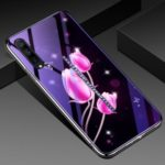 Eletroplating Hybrid Case TPU Frame + Blue-ray Tempered Glass+ PC Back Plate Phone Cover for Vivo iQOO Pro – Tulip