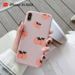 Avocado Persimmon Pattern Printing TPU Casing for iPhone XS Max – Persimmon