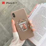 Bear Cup Painting Soft Phone Case Cover for  iPhone 6 6s 7 8 7 Plus 8 Plus X XS XR XS Max – Coffee/For iPhone 8/7