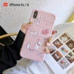 Cute Animals TPU Case for iPhone 6 iPhone6s iPhone 6 Plus iPhone7 iPhone8 iPhone 7 Plus iPhone 8 Plus iPhone X iPhone XS iPhone XR iPhone XS MAX – Cat and Pig/For iPhone 6s/6
