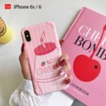 Suitcase Shape Milk Bottle Pattern TPU Case for iPhone 6 6s 6 Plus 6s Plus 7 8 7 Plus 8 Plus X XS XR XS – Pink/For iPhone 6s/6