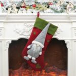 Hanging Socks Cloth Ornaments Faceless Doll Boots Christmas Decoration – Red
