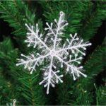 3PCS/Pack Christmas Plastic Glitter Snowflake Hanger Plastic Snowflake Ornaments