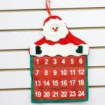 24 Days Non-woven Christmas Calendar Santa Claus Advent Party Home Decoration