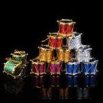 Colorful Drum Shape Pendants Christmas Tree Decoration Bongo Ornaments Set [Color Random] – Small Drum