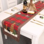 Christmas Table Runner Top Tablecloth Home Decoration – Red Flowers