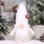 Christmas Santa Plush Doll Dwarf Decoration Christmas Party Gift – White