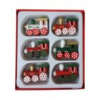 6PCS/Set Locomotive Pendant Hanging Christmas Tree Ornaments Set Christmas Train Decorations