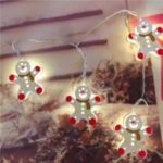 Painted 10-LED Light Strings Double-sided Christmas Decoration Light String 2m – White Snowman