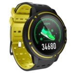 1.3inch Full Touch Display V5 Smart Bracelet Outdoor Sports Fitness Tracker Blood Pressure Monitor Smart Band – Yellow
