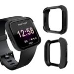 Dual-color TPU + PC Watch Shell for Fitbit Versa Lite – All Black