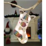 Christmas Tree Decoration Socking Cloth Unicorn Christmas Sock with LED Light