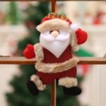 Christmas Figurine Dancing Old Man Snowman Deer Bear Cloth Doll Small Hanging Pendant Gift Christmas Tree Accessories – Old Man