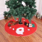 Christmas Tree Skirt Santa Claus Reindeer Home Party Decoration 100cm