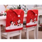 10Pcs/Set Christmas Chair Back Cover Dining Seat Covers Decoration Home Party Events