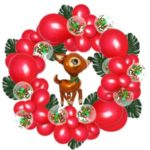 Christmas Aluminum Foil Balloon Banner Garland Party Supplies Decor – Red/Elk