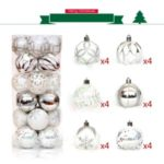 24PCS/Lot Christmas Tree Decor Ball Bauble Xmas Party Hanging Ball Decorations – Silver / White