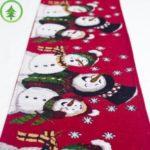 Creative Christmas Desktop Decorations Cotton linen Christmas Table Flags, 35*180cm – Snowman