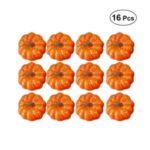 16PCS/Set 5.5cm Foam Simulate Pumpkins Halloween Party Decorative Prop Ornaments