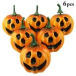 6PCS/Set 5.5cm Mini Foam Simulation Pumpkin Halloween Decoration