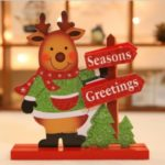 Santa Claus Snowman Elk Doll Table Desk Ornament Christmas Supplies – Elk