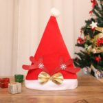 Christmas Ornaments Decoration Cap Christmas Santa Hats for Party – Red Antler and Snow