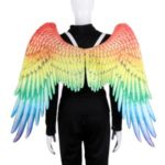 Unisex Non-woven Rainbow Color Adult Angel Wings Cosplay for Carnival Halloween