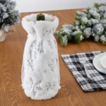 Christmas White Plush Snow Flake Bottle Cover