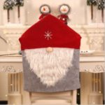 Christmas Chair Cover Chair Back Cover Xmas Holiday Festive Decor – Red