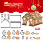18PCS/Set Christmas Cookie Cutter Stainless Steel Cut Candy Biscuit Mold Cooking Tool
