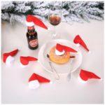 10PCS/Set Christmas Wine Bottle Cap Cover Home Decoration
