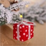 Xmas Gift and Christmas Ball Pendant Christmas Tree Hanging Ornament – Red Gift