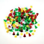 Christmas Tree Snowflake Shaped Merry Table Confetti Sprinkles Party Decor – Style A