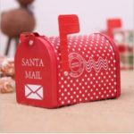 Christmas Mailbox Storage Box Candy Case for Children Kids Xmas Gift Decoration – Polka Dot