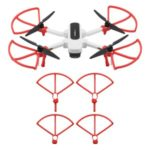 4PCS/Set Propeller Guard Protector + Extension Landing Gear Legs for Hubsan Zino H117S – Red